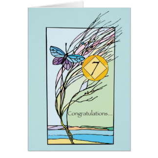 7TH Anniversary 12 Step Recovery Support, Encourag Card