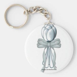 7th Anniversary Basic Round Button Keychain