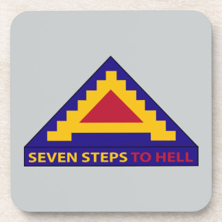 7th Army - Seven Steps To Hell Beverage Coaster