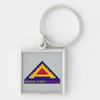 7th Army - Seven Steps To Hell Silver-Colored Square Keychain