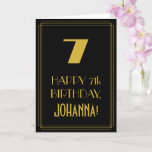 "[ Thumbnail: 7th Birthday – Art Deco Inspired Look ""7"" & Name Card ]"
