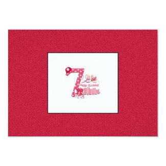 7th Birthday (Baseball) 5x7 Paper Invitation Card