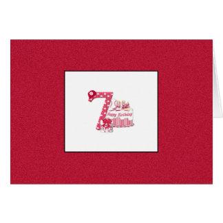 7th Birthday (Baseball) Greeting Card