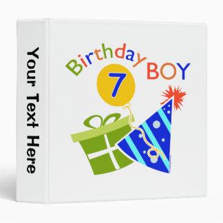 7th Birthday - Birthday Boy Binder
