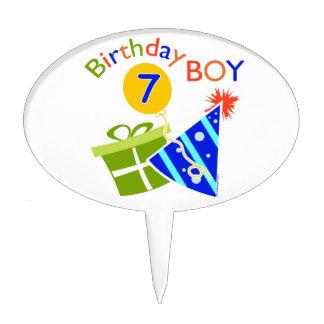 7th Birthday - Birthday Boy Cake Picks