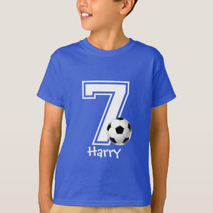 7th Birthday Boy Soccer Personalized 2 T Shirt
