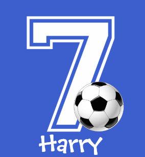 7th Birthday Boy Soccer Personalized 2 T Shirt
