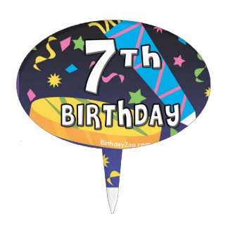 7th Birthday Cake Toppers