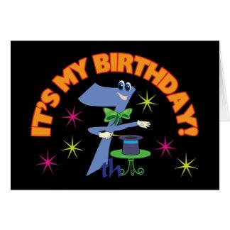 7th Birthday Greeting Card