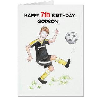 7th Birthday Card for a Godson - Footballer