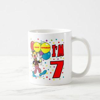 7th Birthday Clown Birthday Classic White Coffee Mug