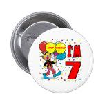 7th Birthday Clown Birthday Pin