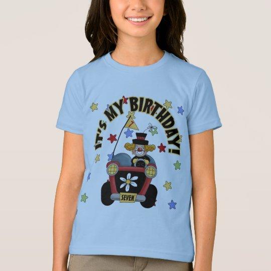 7th Birthday Clown T-Shirt