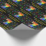 [ Thumbnail: 7th Birthday: Colorful Music Symbols, Rainbow 7 Wrapping Paper ]