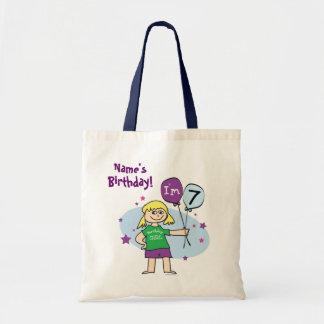 7th Birthday Custom Bag