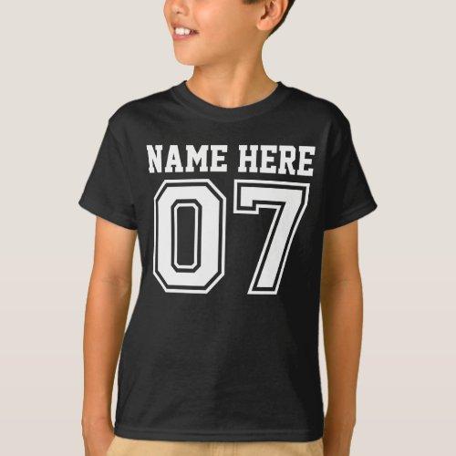7th Birthday Customizable Kids Name T_Shirt