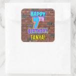 [ Thumbnail: 7th Birthday – Fun, Urban Graffiti Inspired Look Sticker ]