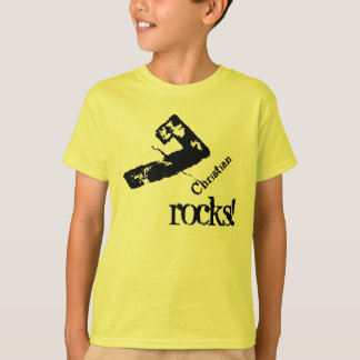 7th Birthday Gift for 7 Year Old Number on Slant T-Shirt