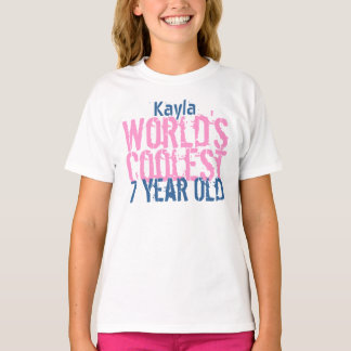 7th Birthday Gift World's Coolest 7 Year Old G16 T-Shirt