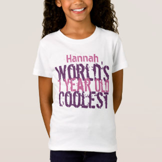 7th Birthday Gift World's Coolest 7 Year Old Girl T-Shirt