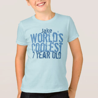7th Birthday Gift World's Coolest 7 Year Old V1 T-Shirt