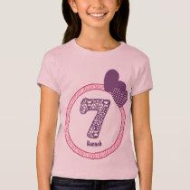 7th Birthday Gift Zebra Polka Dot Pattern V03A T-Shirt
