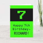 """[ Thumbnail: 7th Birthday: Nerdy / Geeky Style """"7"""" and Name Card ]"""