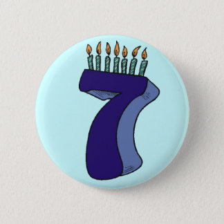 7th Birthday Party Button