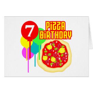 7th Birthday Pizza Birthday Card