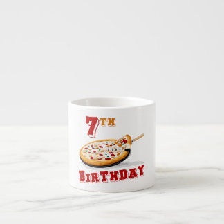 7th Birthday Pizza Party Espresso Cup