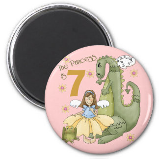 7th Birthday Princess Magnet
