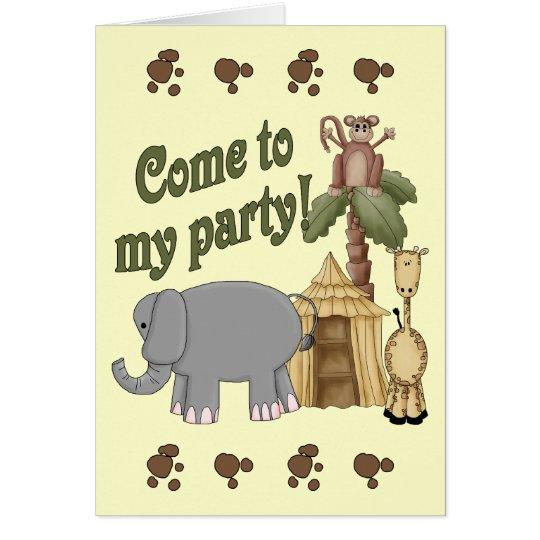 7th Birthday Safari Card