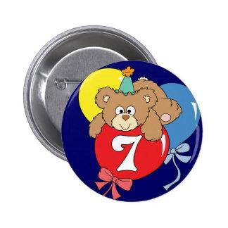 7th Birthday Teddy Bear (2) Button