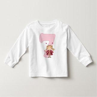 7th birthday tshirt with cute ladybird fairy