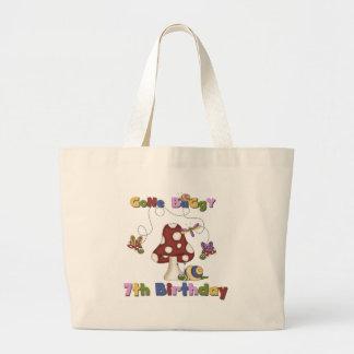 7th Bug Birthday Canvas Bags