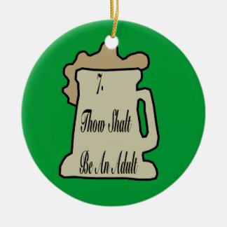 7TH Commandment Of Beer Ornament