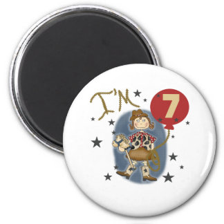 7th Cowgirl Birthday Refrigerator Magnet