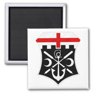 7th Engineer Battalion 2 Inch Square Magnet