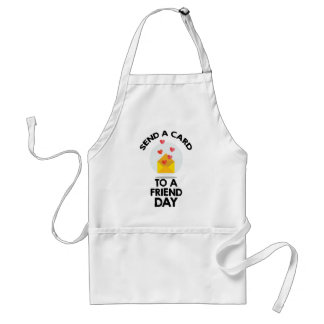 7th February - Send a Card to a Friend Day Adult Apron