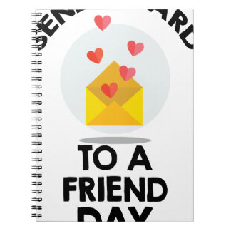 7th February - Send a Card to a Friend Day Spiral Notebook