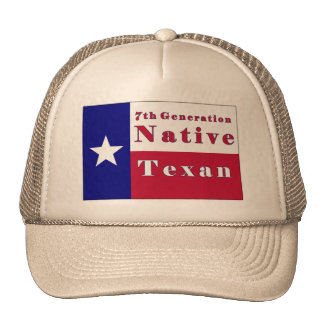 7th Generation Native Texan Flag Trucker Hats