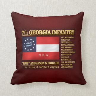 7th Georgia Infantry (BA2) Throw Pillow