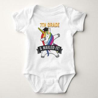 7TH GRADE Nailed It Unicorn Dabbing Graduation Baby Bodysuit