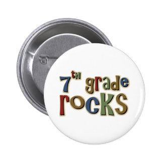 7th Grade Rocks Seventh Button