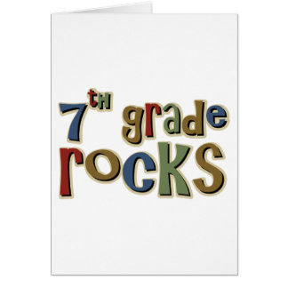 7th Grade Rocks Seventh Card