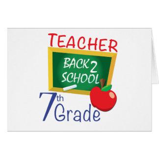7th Grade Teacher Greeting Cards