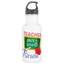 7th Grade Teacher Water Bottle