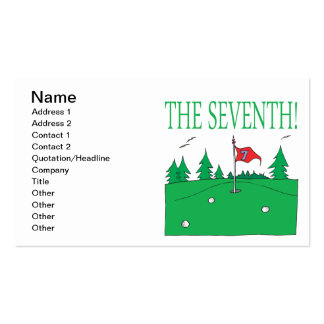 7th Hole Business Card Template