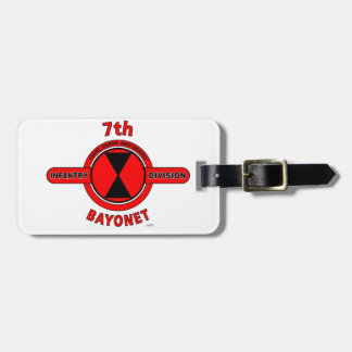 "7TH INFANTRY DIVISION ""BAYONET DIVISION"" LUGGAGE TAG"