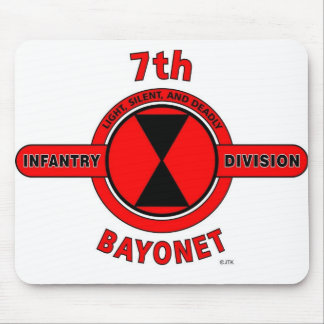 """7TH INFANTRY DIVISION """"BAYONET DIVISION"""" MOUSE PAD"""